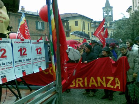 Lo sciopero a Monza 12.12.2008