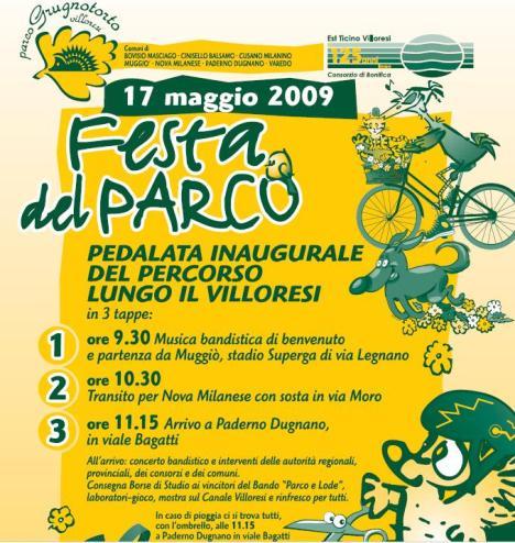Programma festa del Parco Grugnotorto 2009