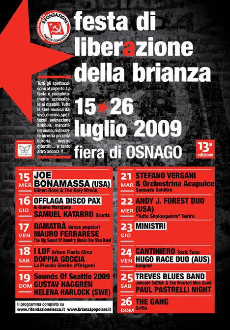 Festa di Liberazione della Brianza - Clicca sulla immagine per vedere il programma completo