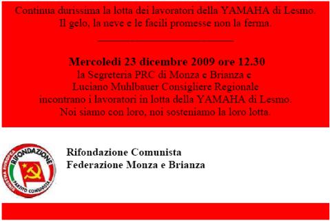 Solidarietà alla durissima lotta dei lavoratori Yamaha
