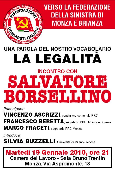 SALVATORE BORSELLINO - La legalità
