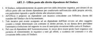 Regolamento Uffici - Ufficio alle dirette dipendenze del Sindaco