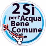 2 SI per acqua bene comune