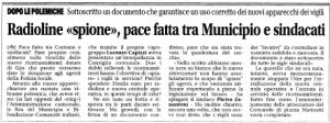 L'articolo apparso sulla stampa il 2 aprile 2013