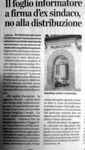Articolo de Il CIttadino 05/07/2014