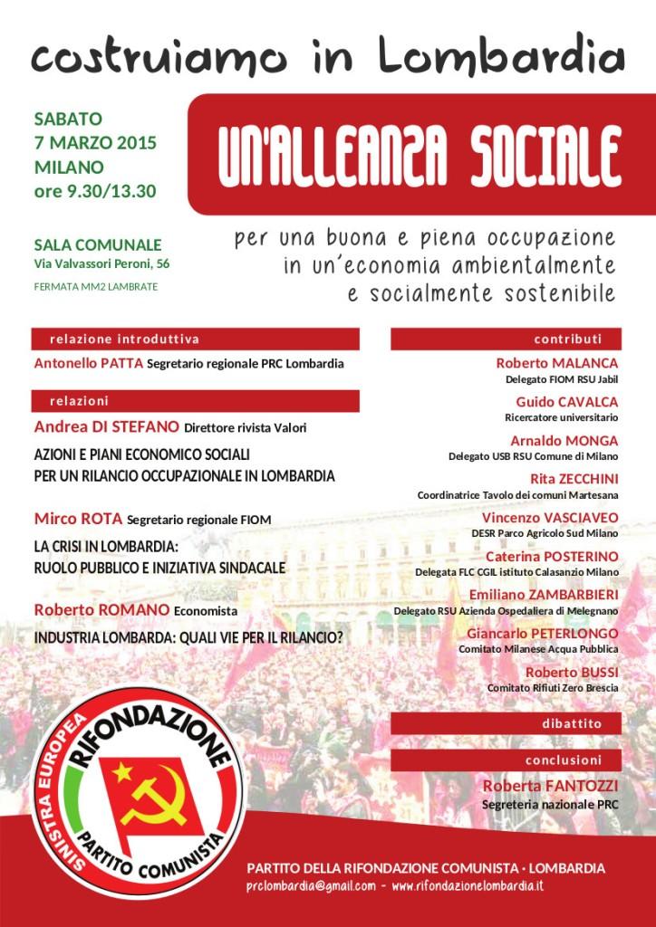 ALLEANZA SOCIALE 07.03.2015